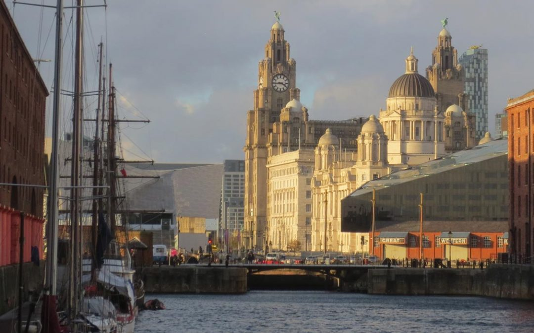 Photo: The Liver building seen from the Albert Dock