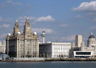 The Liver building seen from one of the Mersey ferries