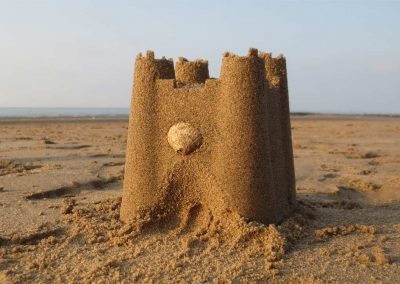 Sandcastle on Prestatyn beach