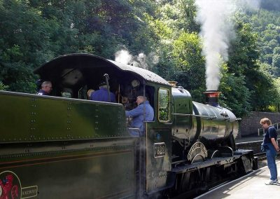 Steam railway at Llangollen