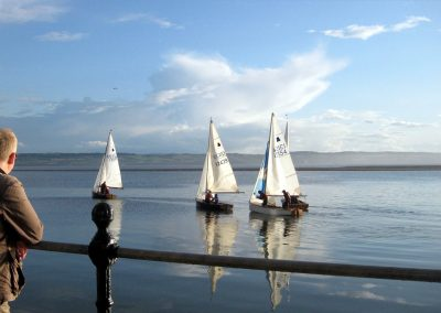 Dinghy sailing on West Kirby marine lake