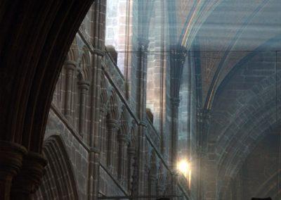Sunlight through the nave windows