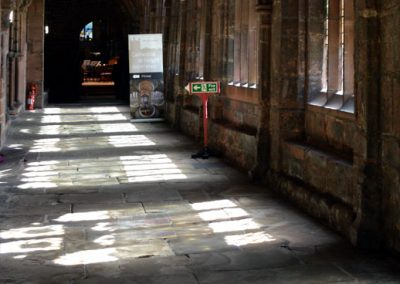Photo: Ancient flagstones in the cathedral cloisters