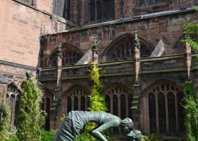 Photo: Sculpture in the cloister gardens