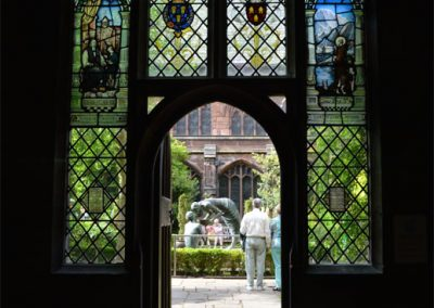 Photo:Entrance to the cloister gardens