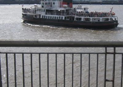 Photo: A Mersey ferry leaving for Birkenhead