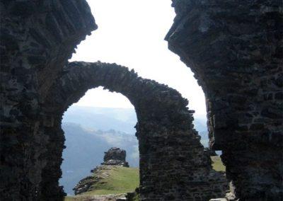 Castell Dinas Brân overlooks Llangollen