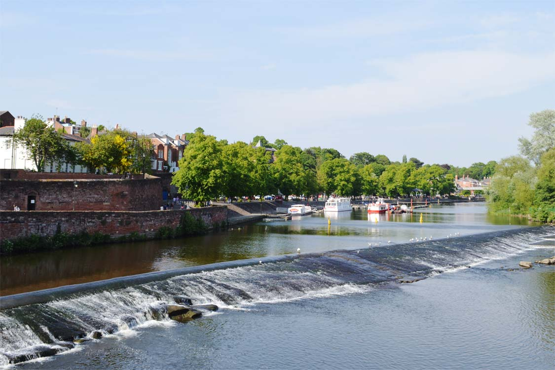 Photo: The River Dee and the city walls