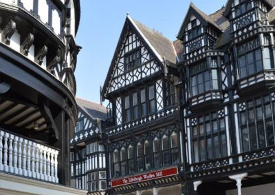 Typical Chester city centre architecture