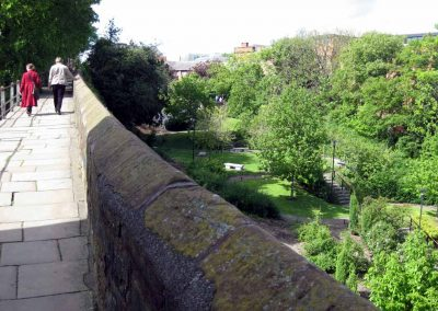 The Roman gardens from the city wall