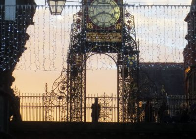 The Eastgate Clock at Christmas time