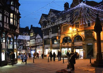 Chester city centre at Christmas