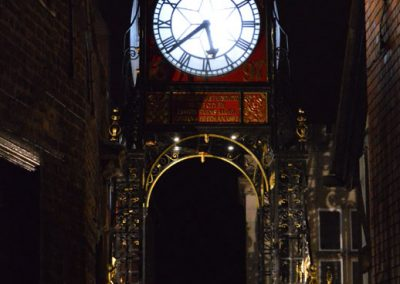 The Eastgate Clock at night