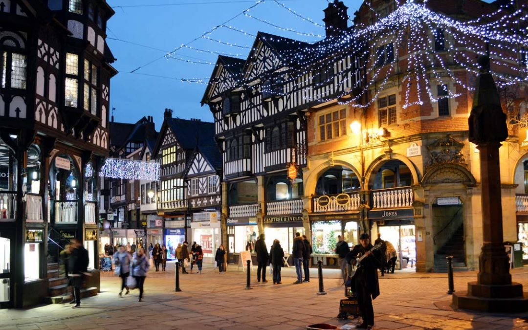 Photo: Chester city centre at Christmas
