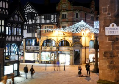 Christmas lights in Chester city centre