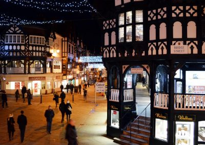 Photo: The Chester Rows at Christmas