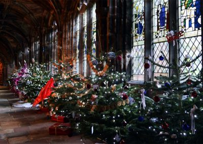 Christmas tree festival at Chester Cathedral