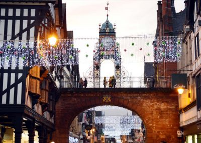 The Eastgate Clock at Christmas