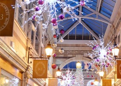 The Grosvenor shopping centre in the run up to Christmas