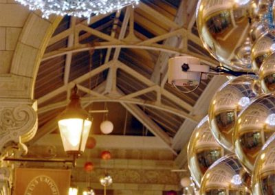Christmas decorations in the Grosvenor shopping centre